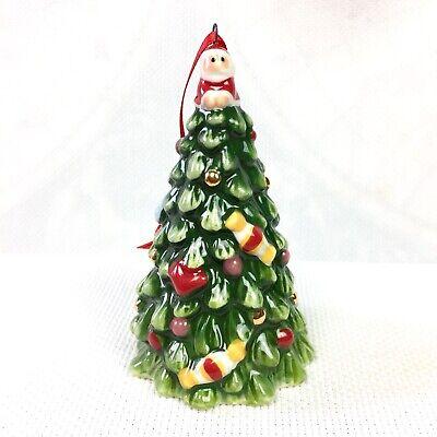 Spode Ceramic Miniature Christmas Tree Santa Claus Holiday Candy Ornament A19