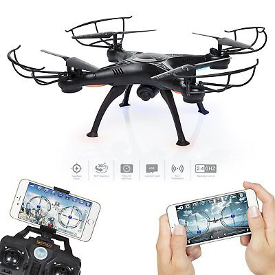 Black Drone X5SW Wifi RTF 2.4G 4CH RC quadcopter Camera Drone with HD Camera FPV