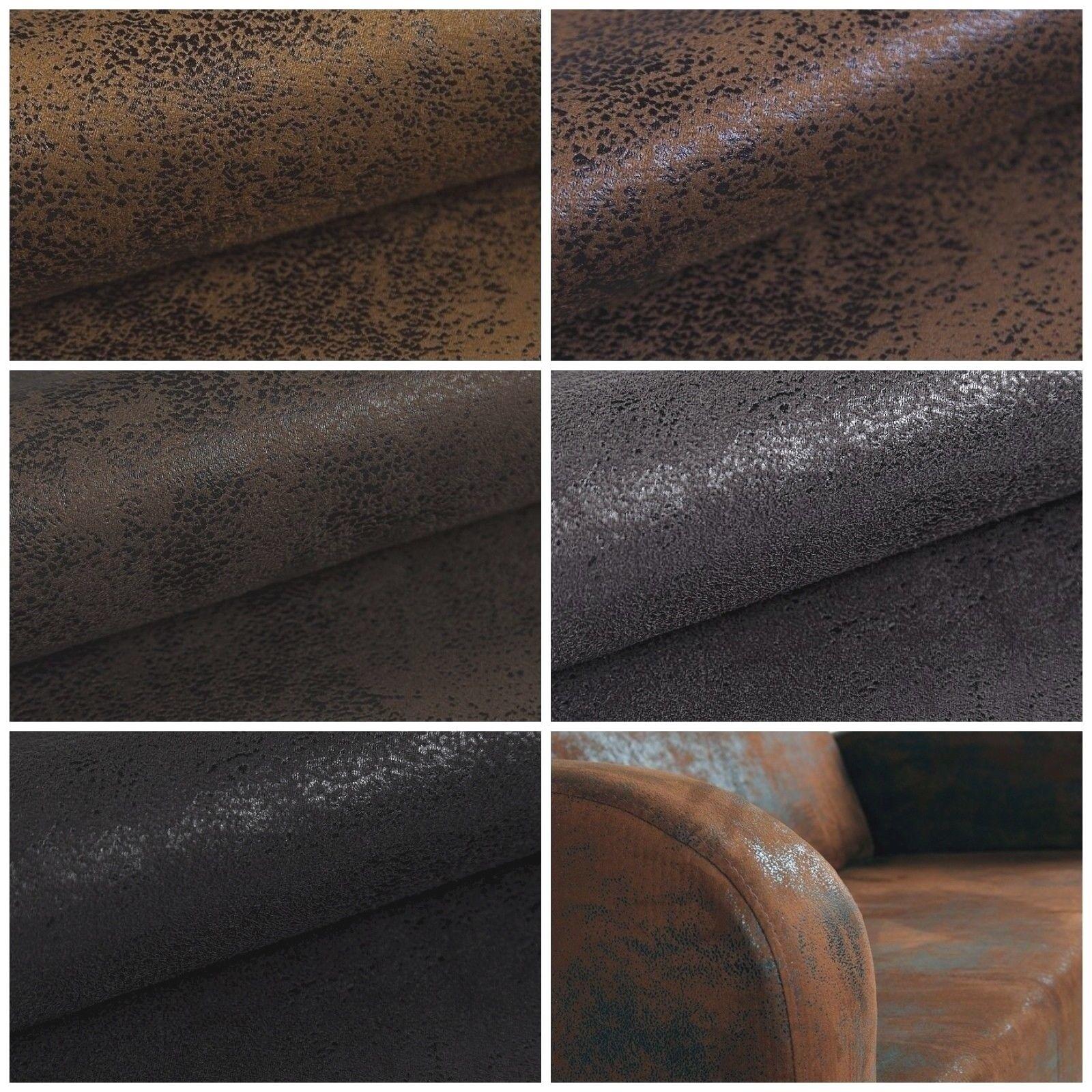 AFRICA Möbel Bezug Polsterstoff Microfaser Stoff Velour Lederoptik Meterware