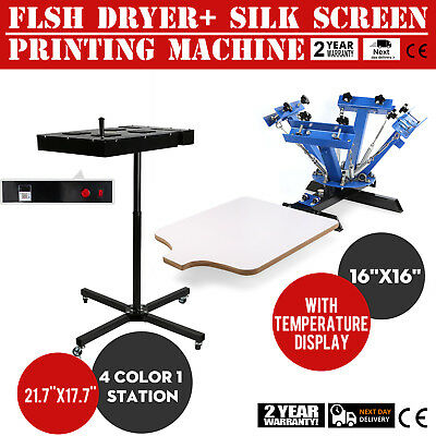 4 Color Screen Printing 1 Station Kit 16 X 16 Temperature Flash Dryer Hot
