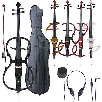 Cecilio Ebony Electric Silent Cello 4/4 Full Size