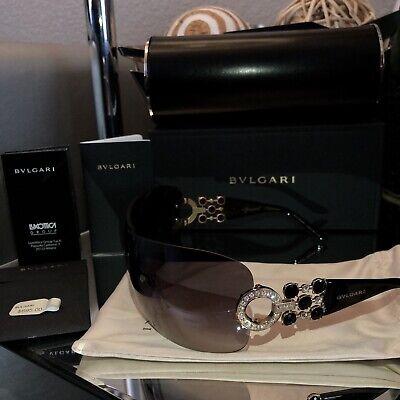 769525da67 Bvlgari Sunglasses 6063-B Limited Edition Swarovski Crystal Gold Black SOLD  OUT!