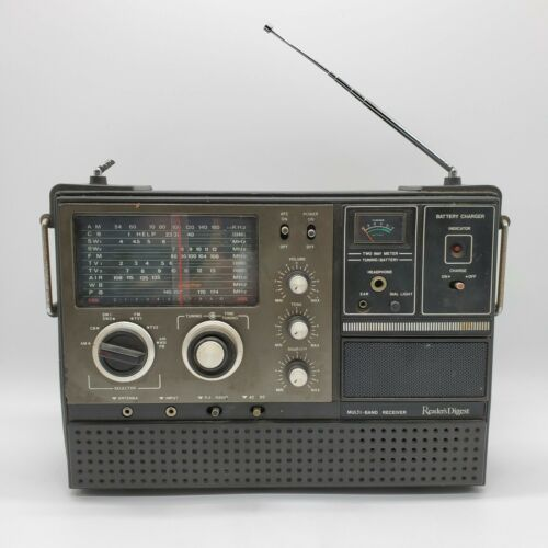 Vintage Readers Digest Multi-Band Receiver Model RDA-127 AM/FM Shortwave Radio