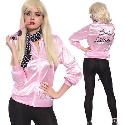 Women Pink Lady Jacket Dance Cheerleader Drama Costume Fancy Dress Halloween  - Dancing Halloween Costumes