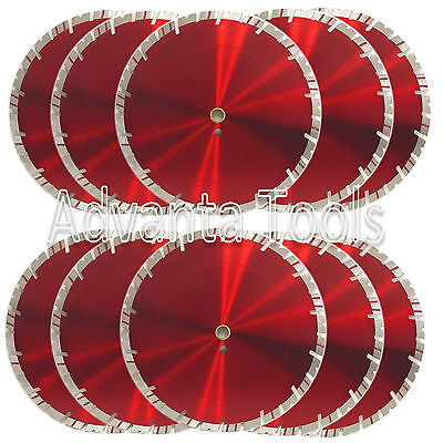 10pk 14 Diamond Saw Blade For Block Concrete Paver Brick Refractory Brick -15mm