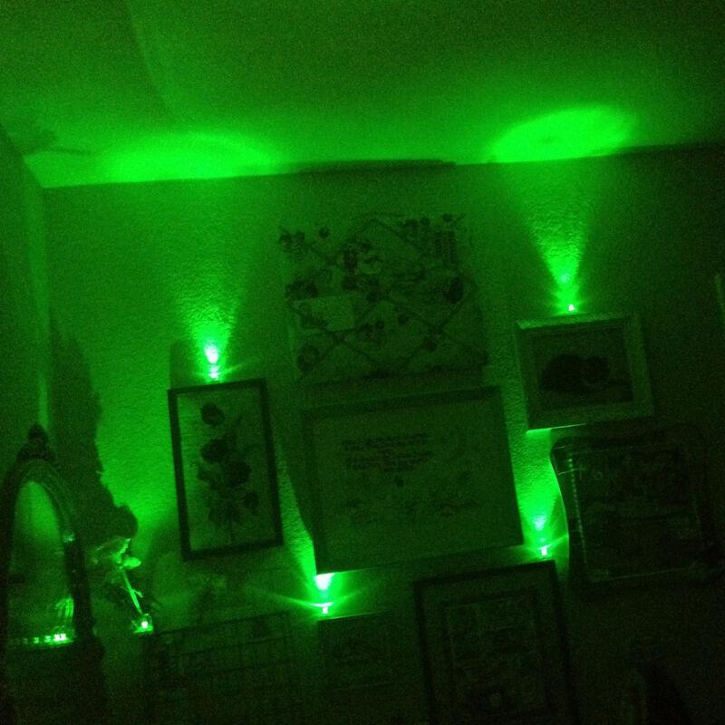 Submersible Waterproof Battery LED Tea Light ~ General Decoration~Green~ 10 Piec