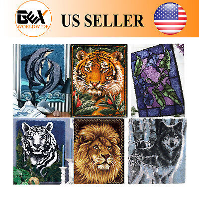 GEX NEW Latch Hook Kit Rug tapestry Cushion DIY Craft Needle Embroidery Carpet