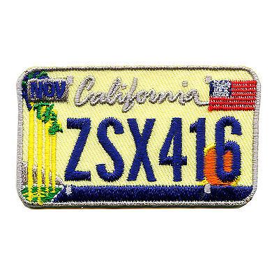 California Autokennzeichen USA CA US Bundesstaaten Patch Aufnäher Aufbügler 0605