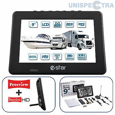 """9 """" portable écran large TNT HD Numérique LCD TV avec USB & PVR enregistrement"""