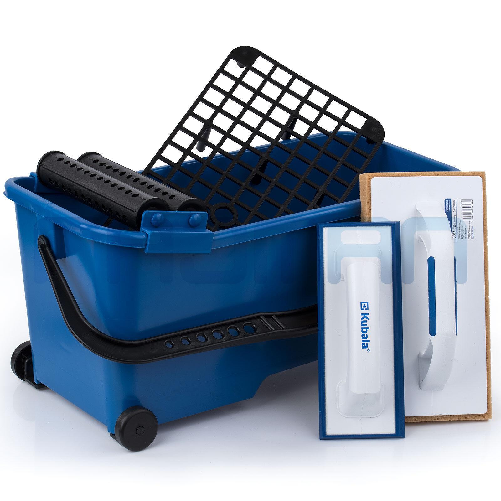 KUBALA® 6-tlg Fliesenleger Waschset 20L Waschbox Fugbox Fugbrett KB 9901