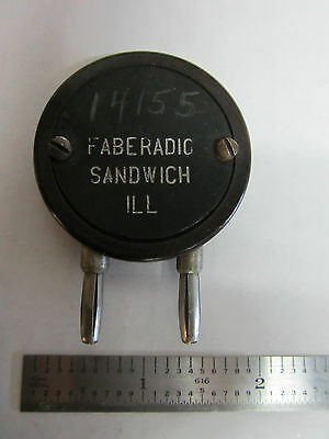 Vintage Quartz Radio Crystal Leon Faber Faberadio Sandwich Il Reeves Jk Cts