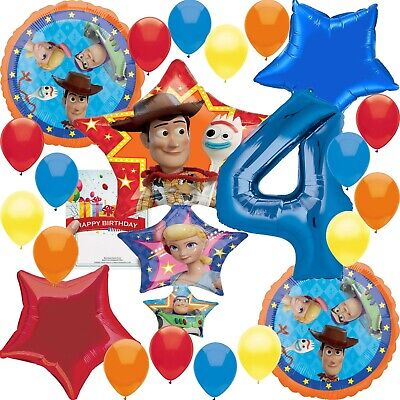arty Supplies 4th Birthday Balloon Decoration Bundle (Disney Party Supplies)