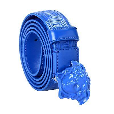 Versace 100% Leather Blue Women's Belt Sz 32 36 38 40
