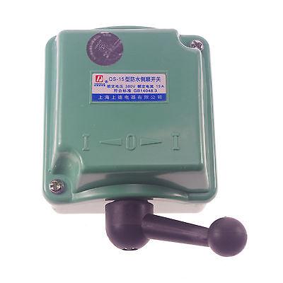 15a 110v 220v 380v Rain Proof Reversing Drum Switch For Single Phase 3 Phase