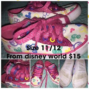 Girls runners size 11/12. From Disney world.