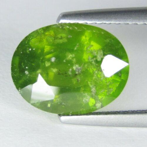 4.35Cts Classic Natural Green Grossular Garnet Oval Shape Loose Gem Ref VDO