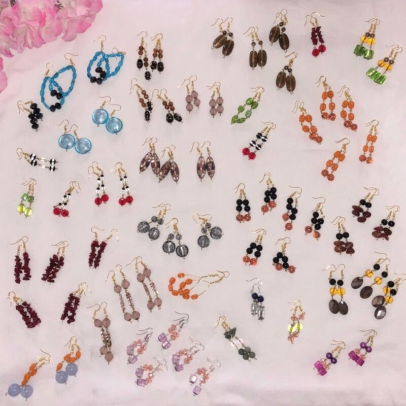 20 pcs. handmade earrings wholesale lot