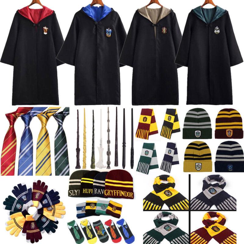 Kinder Harry Potter Gryffindor Slytherin Hufflepuff Krawatte Hut Cosplay Sets DE