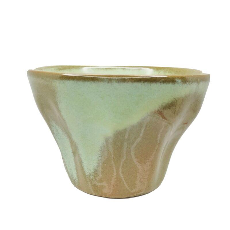 FRANKOMA Art Pottery PLANTER 174 Prairie Green Glazed Bowl USA Collectible
