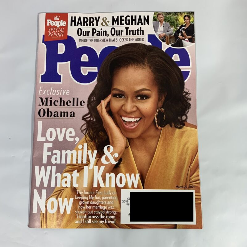 People Magazine March 22 2021 Michelle Obama Family Harry and Meghan Pain Truth