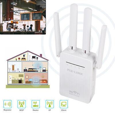 300Mbps WPS Wireless WiFi WLAN Repeater Verstärker Extender Router mit 4 Antenne ()