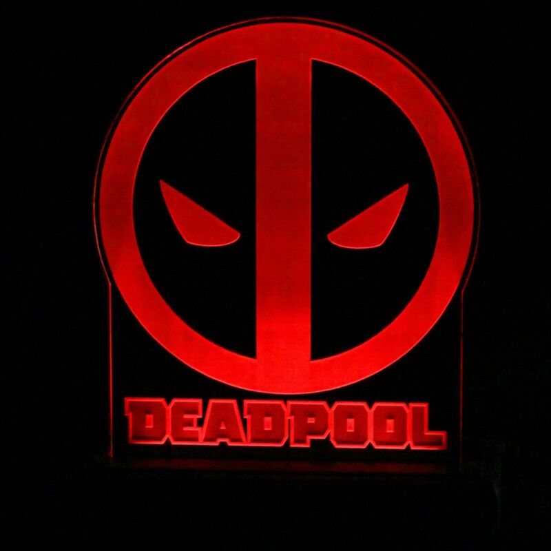 Deadpool LED lighted acrylic sign