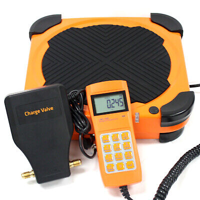 Electronic Refrigerant Scale 220lbs Hvac Charging Digital Weight W Charge Valve