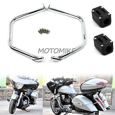 Engine Guard Crash Bar with Slider Protector For Victory Cross Country Road