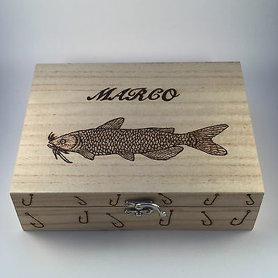 Personalized Tackle Box (Fishing Tackle Box personalised gift with 6 removable)