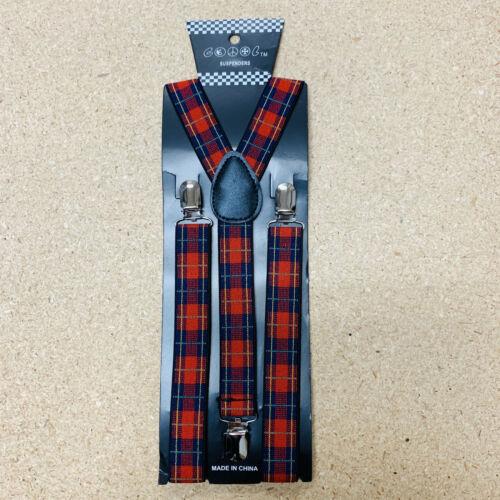 New Mens Womens Wedding 3 Clip-on Suspenders Elastic Y-shape Adjustable Braces