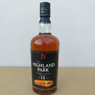 Highland Park 12 Years Single Malt Whisky 40% Alkohol Scotland alte Ausführung