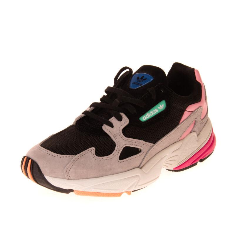 ADIDAS ORIGINALS Leather & Mesh Sneakers EU37 1/3 UK4.5 US6 Colour Block Logo