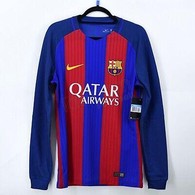 2016-17 Barcelona Player Issue Vapor Match UCL Home L/S Shirt Nike *BNWT*...