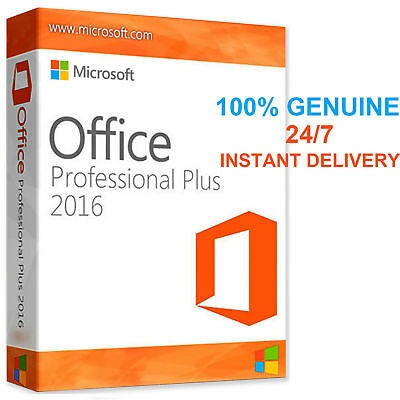 Microsoft Office 2016 Professional Plus GENUINE PRODUCT KEY & DOWNLOAD LINK FGHN