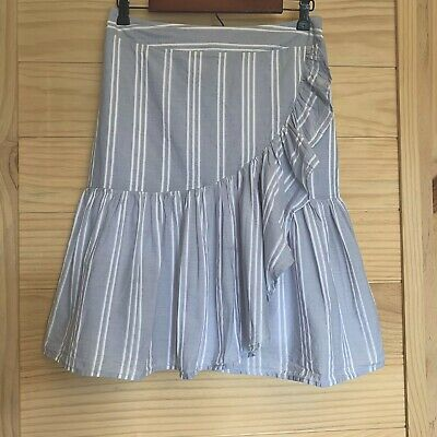 A New Day Faux Wrap Ruffled Striped Skirt Womens -