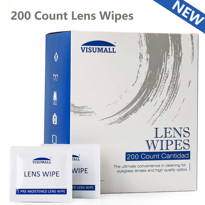 200 Ct Lens Cleaning Wipes For Eye Glass Screen Optical Camera Phone Cleaning