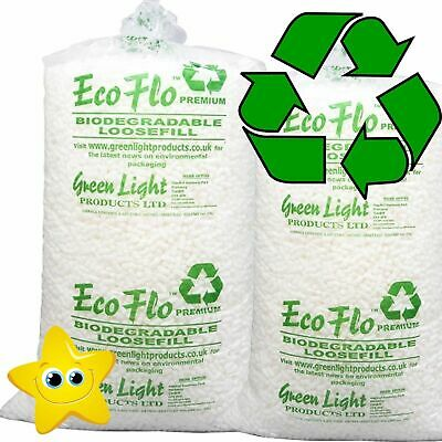 30 Cubic Foot Box of ECOFLO Biodegradable Loose Void Fill Packing Peanuts