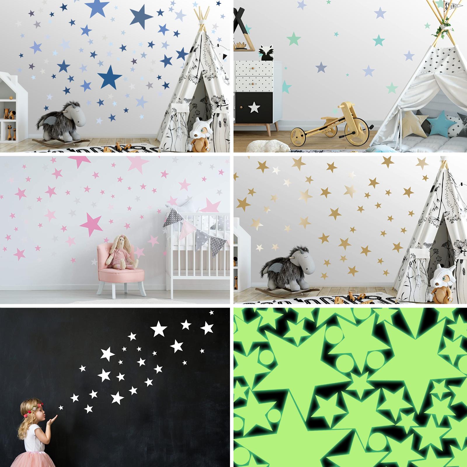 Wandtattoo Sterne für Kinderzimmer Wandsticker Wandaufkleber Wanddeko Aufkleber