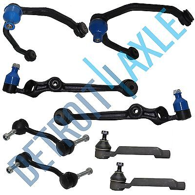 4 Front Control Arm Assembly and 2 Outer Tie Rod Ends + Stabilizer Bar Link Kit
