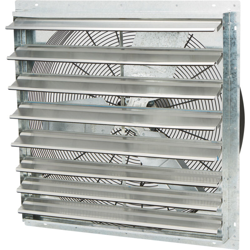 Strongway Enclosed Shutter Exhaust Fan 30in., 1/3 HP, 5,300 CFM