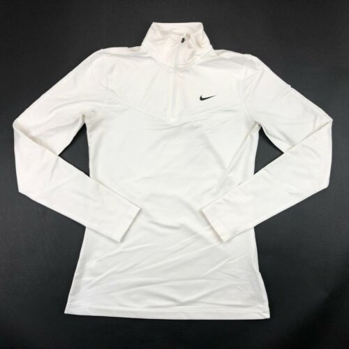 Nike Womens Dri Fit White Long Sleeve Running Pullover XS