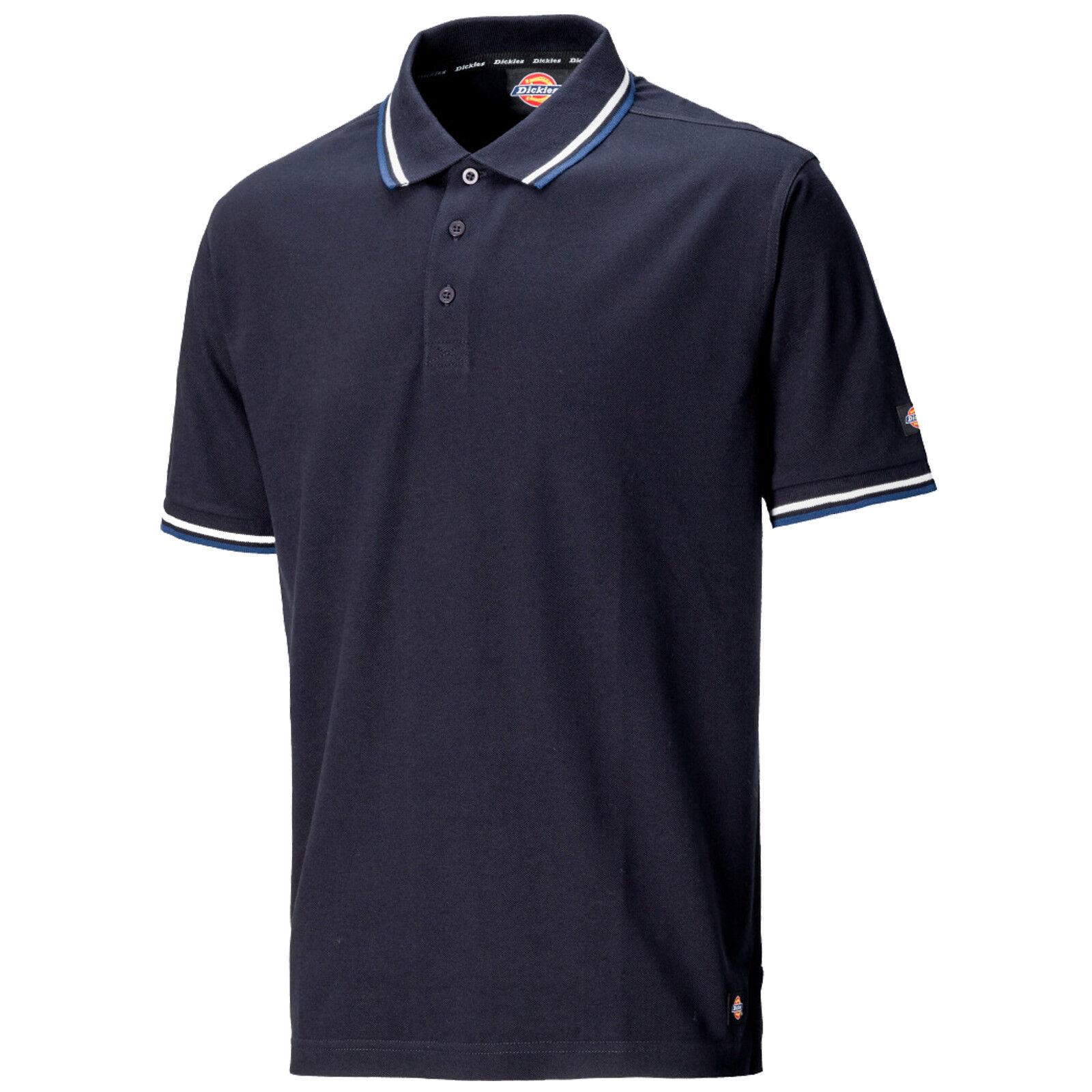 SH2001 Navy Black Grey Dickies Riverton Polo Shirt