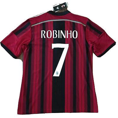 2014/15 AC Milan Home Jersey #7 Robinho Large Adidas Soccer ROSSONERI NEW image