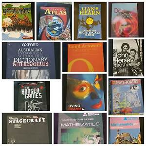 Year 8, 9, 10, 11 and 12 school books - many unused - from $5 Perth Perth City Area Preview