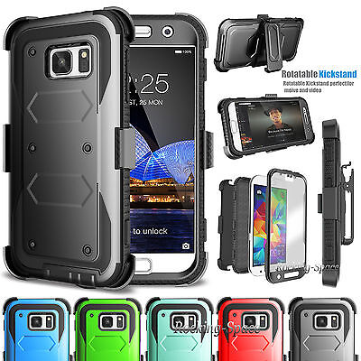 Samsung Galaxy S7 Stand Belt Clip Holster Case Cover W/Built-in Screen
