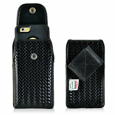 iPhone 6S+ Plus Samsung S7 Police Pouch Belt Clip Case Basket Leather Turtleback