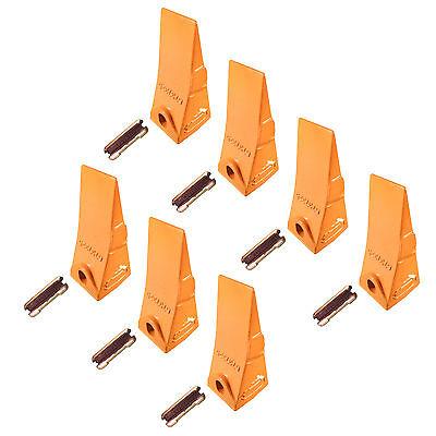 7 - Bobcat Style Mini Excavator Skid Steer Bucket Teeth W Pins - 6737325