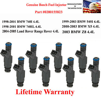 Genuine Bosch 8X Fuel Injector 2004-2005 Land Rover Range Rover 4.4L