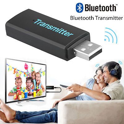 USB Bluetooth V3.0 Wireless Stereo Audio Music Transmitter For TV MP3 CD player