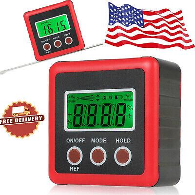 490 Digital Inclinometer Level Box Protractor Magnet Angle Finder Bevel Gauge